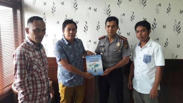 PWI Lampung Utara Audiensi dengan Kapolres