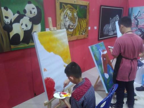 Wali Kota Herman HN Apresiasi Pameran Lukisan Dewan Kesenian Bandar Lampung