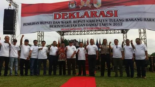 KPU Tulangbawang Barat Deklarasikan Pilkada Damai