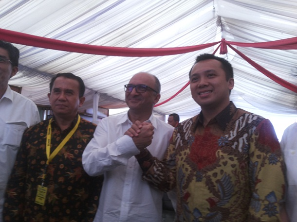 Gubernur Lampung M Ridho Ficardo saat menghadiri acara HUT salah satu pabrik kopi di Lampung | Sugiono/jejamo.com