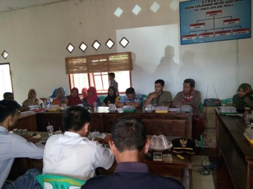Kecamatan Panca Jaya Mesuji Gelar Musyawarah Antar Desa