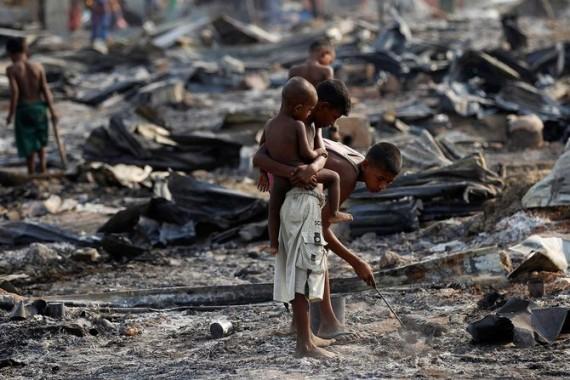 Bocah etnis Rohingya | ist