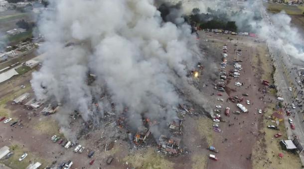 Pasar Kembang Api di Meksiko Meledak, 9 Orang Tewas