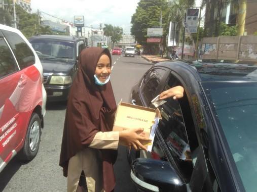 Gempa Pidie, Siswa SMA Miftahul Jannah Bandar Lampung Lakukan Penggalangan Dana