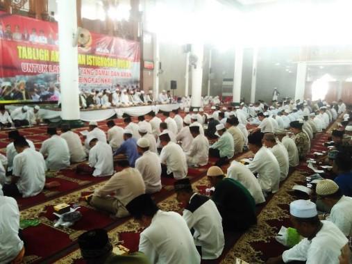 Ribuan Orang Ikuti Tabligh Akbar dan Istigosah Qubro di Masjid Al-Furqon
