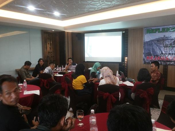 Ekspose refleksi akhir tahun Walhi Lampung | Sugiono/jejamo.com