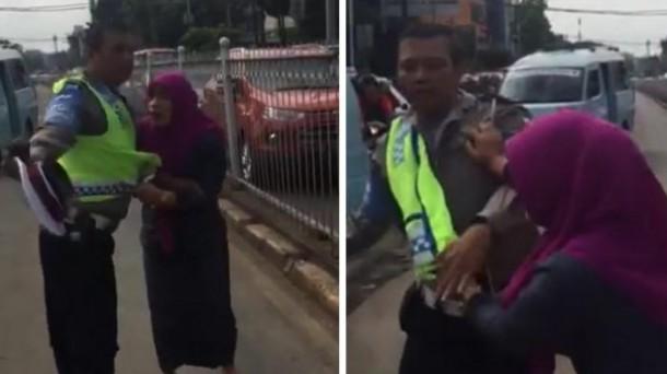 wanita-mencakat-polisi