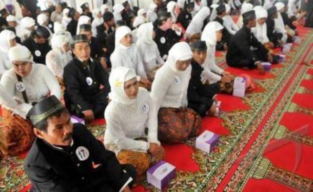 50 Pasangan Warga Miskin Ikuti Nikah Gratis Pemprov Lampung