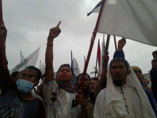 Ini Tuntutan Massa Aksi Bela Palestina di Tugu Adipura Bandar Lampung