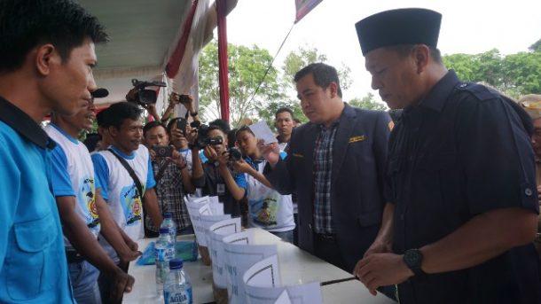 Bulan Bakti Karang Taruna di Lampung Tengah, Mustafa dan Dendi Beri Semangat