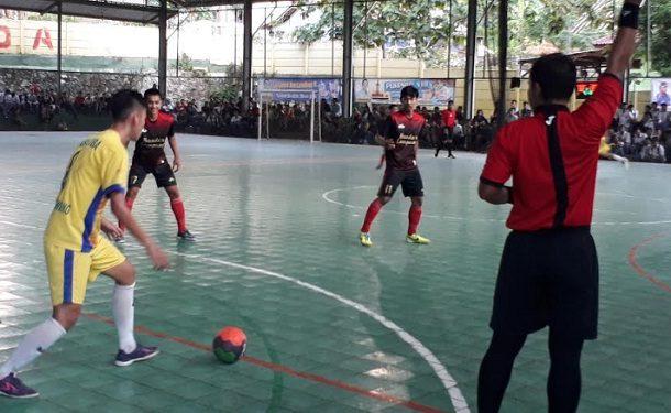 Kalahkan Tulang Bawang 3-1, Tim Futsal Bandar Lampung Raih Emas Porprov VIII