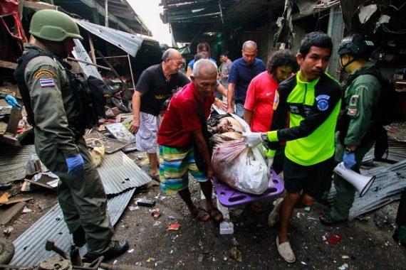 Bom Guncang Kios Babi di Thailand, 3 Tewas 22 Orang Terluka