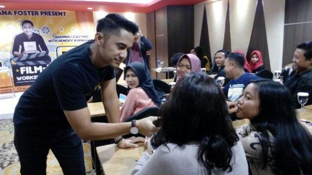 Aktor Kondang Pemilik Banana Foster Lampung Hengky Kurniawan Gelar Workshop Film