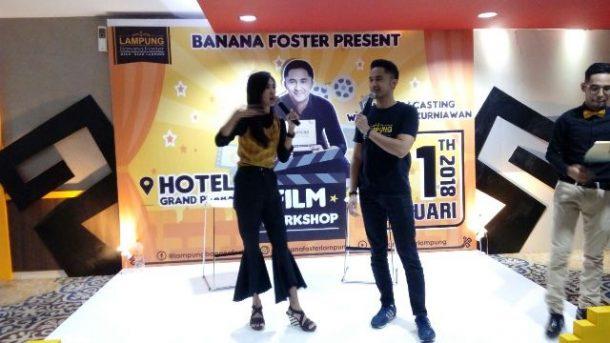 Workshop Film Aktor dan Pemilik Banana Foster Lampung Hengky Kurniawan Sukses, Peserta Antusias