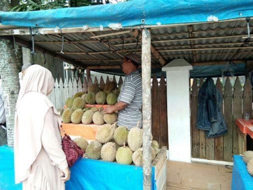 Imron Jual Durian Desa Bernung Pesawaran, Pilih Jatuhan dan Jenis Tembaga Karena Manis dan Lembut