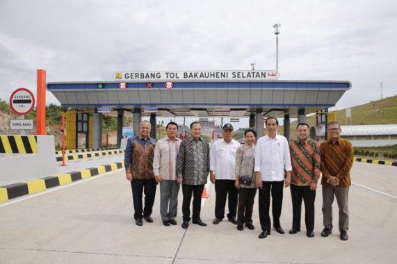 Diresmikan Presiden Jokowi, Tol Lampung Gratis Sampai Bulan Juni