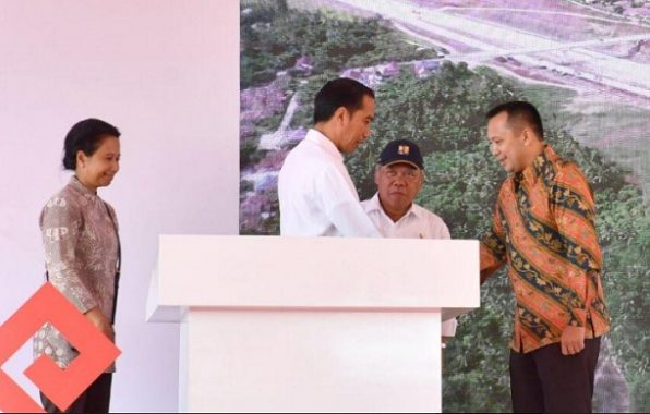 Kunjungi Lampung, Presiden Jokowi Tunjukkan Milik Semua Parpol