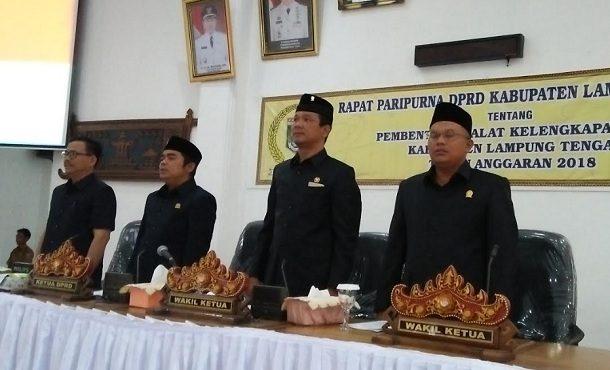 DPRD Lampung Tengah Gelar Rapat Paripurna Alat Kelengkapan Dewan 2018