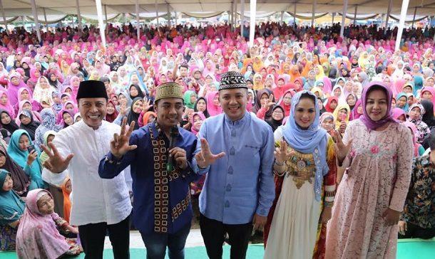 Gubernur Lampung Muhammad Ridho Ficardo Silaturahmi dengan 10 Ribuan Warga Lamsel