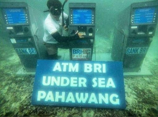 Mesin ATM BRI Dipasang di Bawah Laut Pahawang Jadi Viral