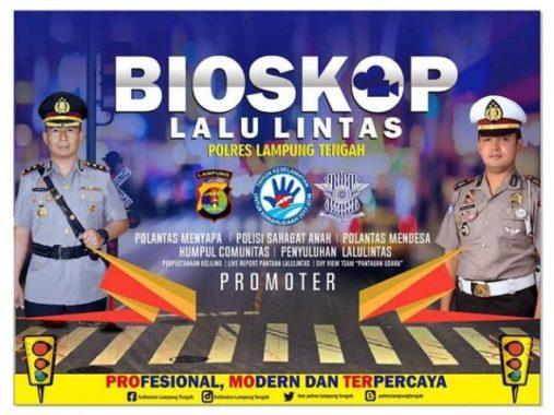 Polres Lampung Tengah Putar Film Keselamatan Lalu Lintas