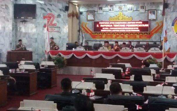 PILKADA LAMPUNG UTARA: Sidang Paripurna DPRD Lampung Utara Ramai Interupsi Tentang Netralitas ASN