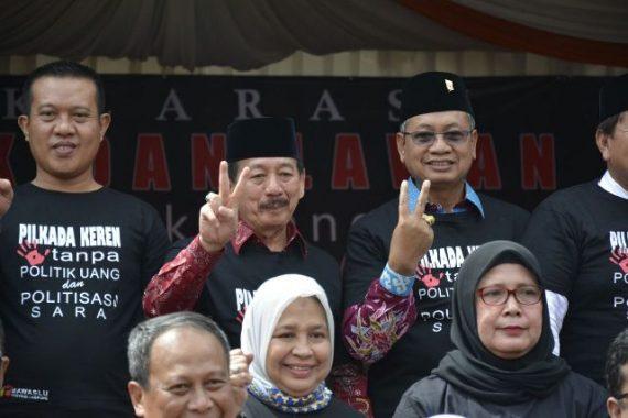 PILGUB LAMPUNG: Herman HN Setuju Polda Lampung Janji Tangkap Pelaku Politik Uang dan Bagi Sembako
