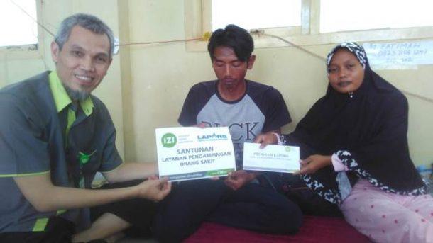 IZI Lampung Bantu Fatimah Bayi Tanpa Tempurung Kepala