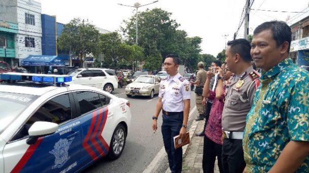 Sering Macet, Jalan Teuku Umar Ditinjau Kadis Perhubungan Bandar Lampung