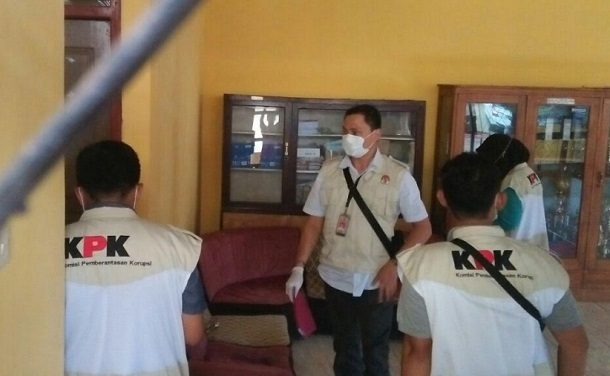 Penyidik KPK Geledah Kantor Dinas Bina Marga, DPRD dan Sesat Agung Nuwo Balak Lampung Tengah