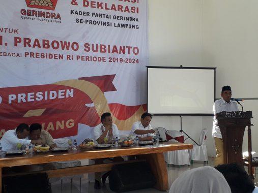Gerindra Lampung Resmi Usung Prabowo Sebagai Capres