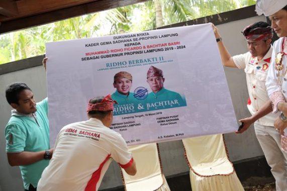 PILGUB LAMPUNG: Gema Sadhana Lampung Dukung Ridho Ficardo-Bachtiar Basri