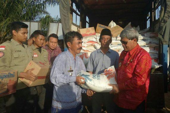 Debit Air di Kampung Subang Bandarsurabaya Semakin Naik, Lampung Tengah Waspada Banjir