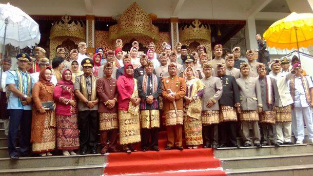 Kanjauan Iringi Rapat Paripurna Istimewa HUT Lampung ke-54