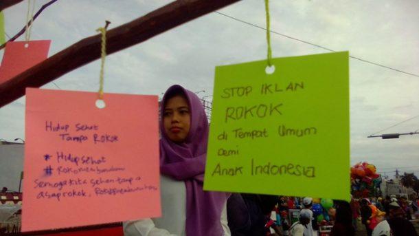 Komunitas Getar Lampung Imbau Berhenti Merokok