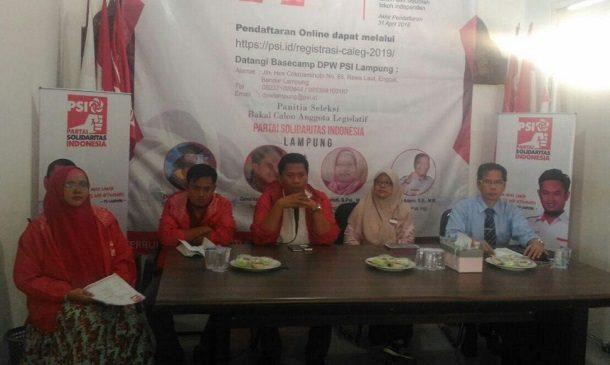 DPW PSI Lampung Buka Penerimaan Pendaftaran Bacaleg
