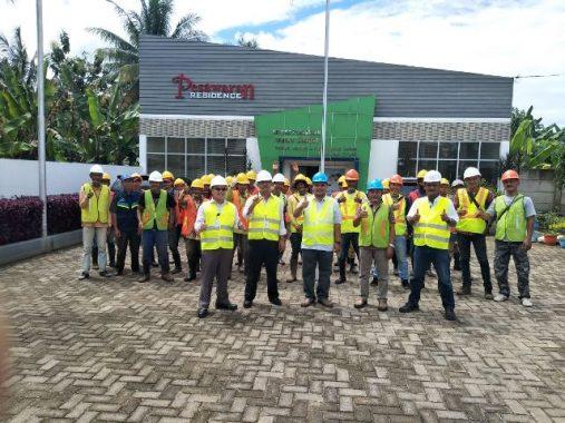 Karyawan Perum Perumnas Pesawaran Residence Diarahkan Ikuti Prosedur Keselamatan Kerja