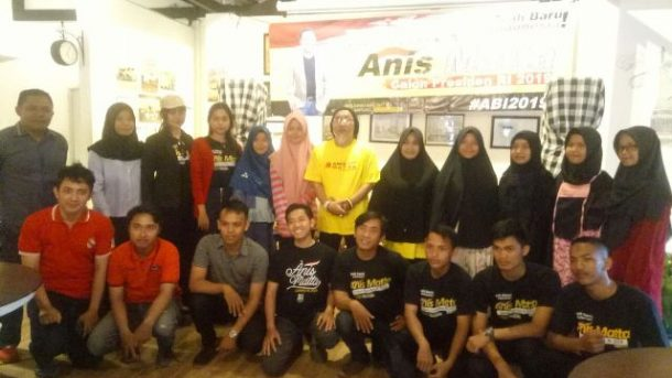 Relawan Anis Matta di Lampung Dideklarasikan, Tanzi Feriadi Ronie Koordinator