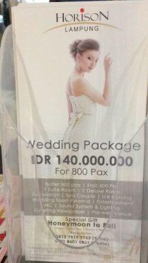 Hotel Horison Tawarkan Paket Pesta Pernikahan Rp140 Juta, Ini Fasilitas yang Bakal Didapat