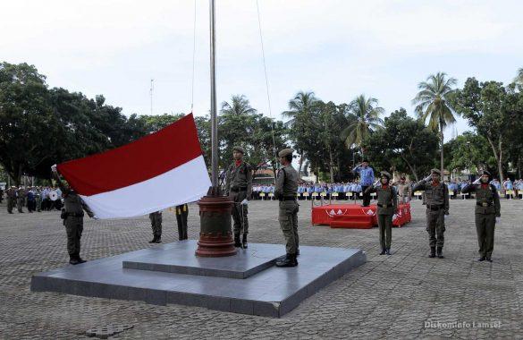 Pemkab Lampung Selatan Gelar Upacara Peringatan HUT Lampung ke-54