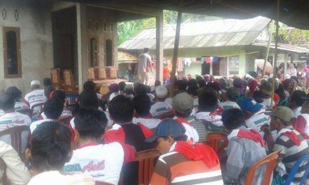PILKADA TANGGAMUS: Kampanye di Dusun Sukamerindu Kelumbayan Induk, Dewi Handajani Cerita Soal Kartini
