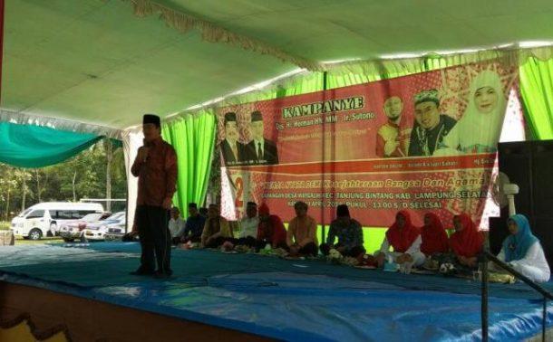PILGUB LAMPUNG: Masyarakat Tanjung Bintang Minta Herman HN Upayakan Keamanan dan Pupuk untuk Petani