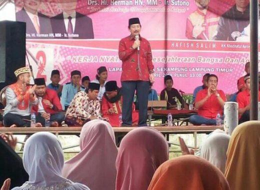 PILGUB LAMPUNG: Herman HN Komitmen Jadikan Lampung Timur Lumbung Pangan