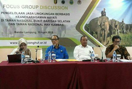 Dinas Kehutanan Provinsi Lampung Gelar FGD Pengelolaan Jasa Lingkungan TNBBS dan TNWK