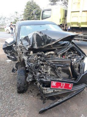 Plt Kepala Dinas Kesehatan Tubaba Kecelakaan di Lampung Tengah