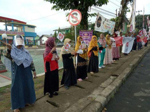 PILGUB LAMPUNG: Kader PKS Tanggamus Senam Bareng dan Freeze Mob Kenalkan Nomor 4