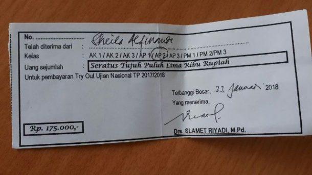 Dugaan Pungli, Wali Murid SMKN 1 Terbanggibesar akan Lakukan Upaya Hukum