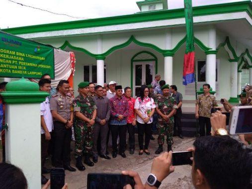 Pemkot Bandar Lampung Apresiasi Pertamina-Kodim 0410 Bangun Sumur Bor dan MCK di Labuhanratu