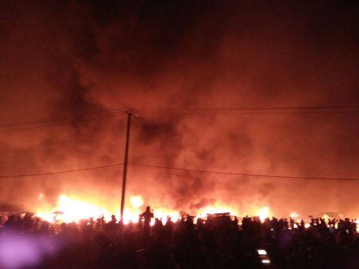 Pasar Pulung Kencana Tubaba Terbakar