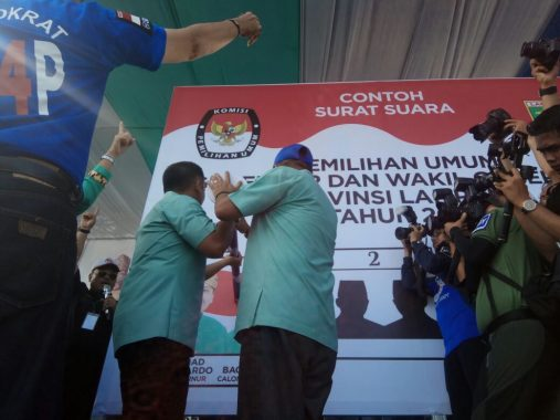PILGUB LAMPUNG: Kampanye di Metro, Ridho Ficardo Paparkan Kesuksesan Lampung